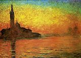 Claude Monet Venice Twilight Dusk painting